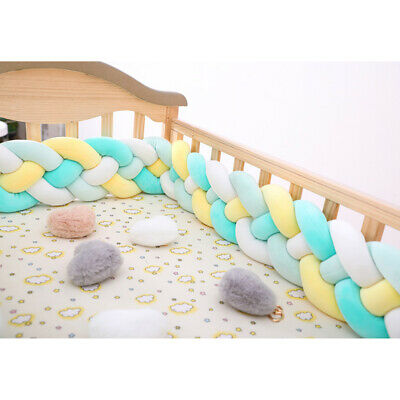 Crib Bumper Baby Bed Protector Newborn Infant Soft Game Pad Cushion 4 Strands