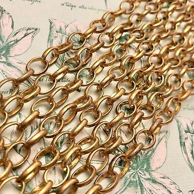Shiny Vintage Oval Brass Chain (Sold By The Foot) 6x9mm