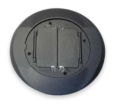 HUBBELL WIRING DEVICE-KELLEMS S1CFCBL Floor Box Cover Carpet Flange,Black