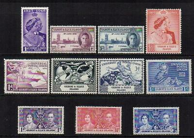 GILBERT&ELLICE1937-49 4 Sets M.Mint with Gum Excellent Looking  No Hidden Faults