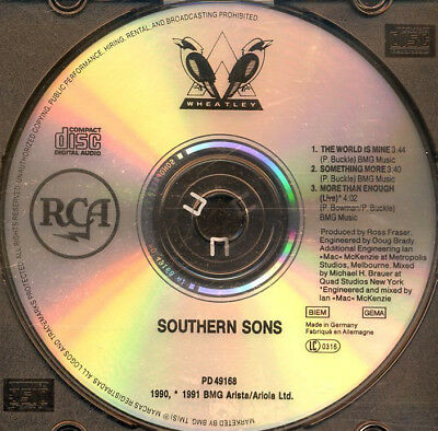 Southern Sons - The World Is Mine ° Maxi-Single-CD von 1991 °