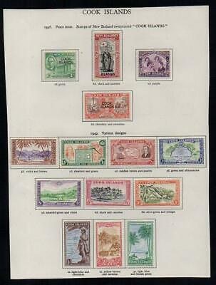COOK ISLANDS 1946-9  2 Sets 14 stamps M.Mint  Excellent Looking No Hidden Faults