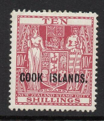 COOK ISLANDS 1936-44 10/- SG 120 M.Mint  Excellent Looking No Hidden Faults But?