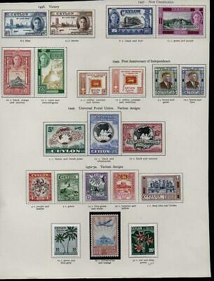 CEYLON 1946-52  21 Stamps  M.Mint with Gum Excellent Looking  No Hidden Faults