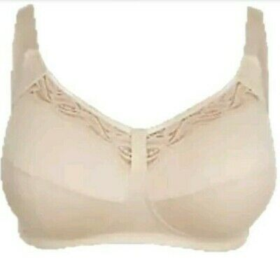 New Ex M&S Non-Wired Total Support Lace Cut Out Bra Nude/Almond 34-44