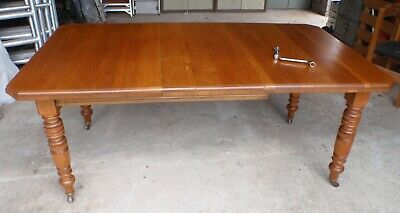 "Antique Oak wind out Dining Table 54"" x 42"", extends to 72"" Can Deliver Alloa"