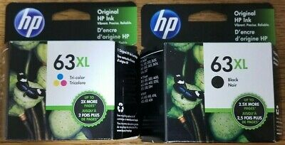 Genuine HP 63XL Set Black & Color Exp.2021