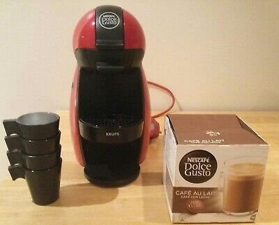 NESCAFE Dolce Gusto Piccolo Manual Coffee Machine by Krups - Red
