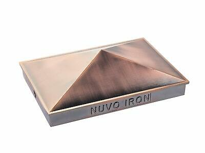 "Nuvo Decorative Pyramid Post Cap for 3.5"" x 5.5"" / 4"" x 6"" Posts - Copper Plated"