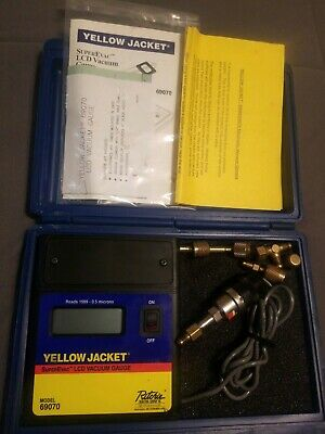 Ritchie Yellow Jacket 69070 superevac lcd full range vacuum gauge - HVAC repair