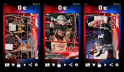 Topps Slam '19 RAW Recap July 1st drop complete 3 card set (digital cards)