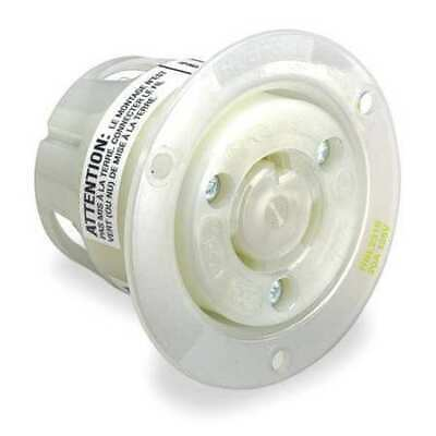 HUBBELL WIRING DEVICE-KELLEMS HBL2326 20A Flanged Twist-Lock Receptacle 2P 3W