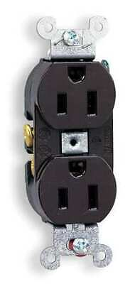 HUBBELL WIRING DEVICE-KELLEMS CR15 15A Duplex Receptacle 125VAC 5-15R BN