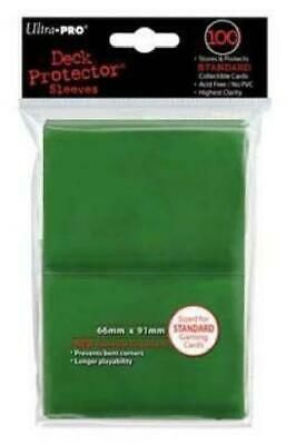 Ultra Pro Green Standard Deck Protector 100ct Sleeves (Ultra Pro) New TD2