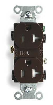 HUBBELL WIRING DEVICE-KELLEMS BR20TR 20A Duplex Receptacle 125VAC 5-20R BN