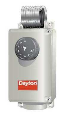 DAYTON 1UHH1 Line Volt Mechanical Tstat, Open/Close on Rise, 24 to 240VAC