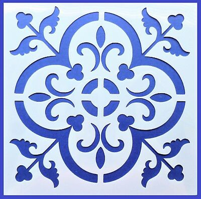 Flexible Stencil *MOROCCAN TILE # 1* Pattern Embossing Card Making 20cm x 20cm