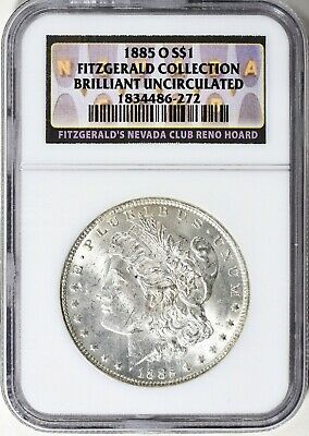1885-O Morgan Silver Dollar  - Ngc Unc. - Fitzgerald  Collection, Right Price