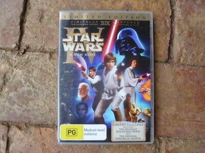 Star Wars  A NEW HOPE MOVIE   LIMITED TWO DISC SPECIAL EDITION DVD,  BOOKLET