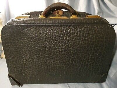 Antique Milock Leather Briefcase Bag Patented 1926