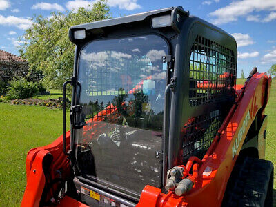"Kubota SVL 75-2 1/2"" Lexan Forestry door. Fits 90 and 95-2 as well."