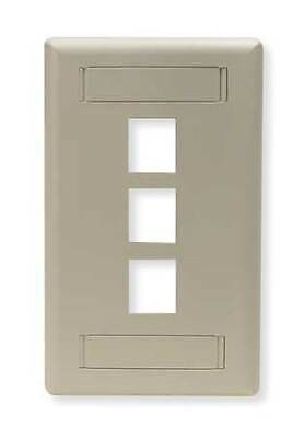 HUBBELL PREMISE WIRING IFP13W Wall Plate,3 Port