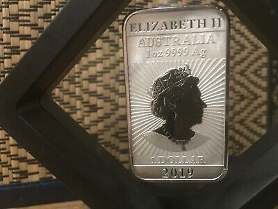 2019 - Australia Dragon Bar Coin - 1 oz. 9999 Fine Silver Bar - BU Perth Mint