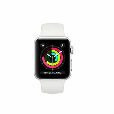 Apple Watch Series 3 MTEY2 - 38mm Silver Aluminium Case with White Sport Band
