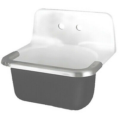 AMERICAN STANDARD 7695008.020 Utility Sink,Enameled Cast Iron,Wall