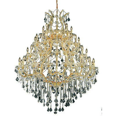 "49 Light 62"" Large Gold Foyer Maria Theresa Dining Room Crystal Chandelier"