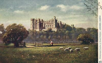 EARLY 1900s TUCK'S OILETTE Arundel Castle POSTCARD EXCELLENT - writing on front