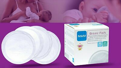 MAM Breast Pads - 30 Pieces Breastfeeding Care & Comfort Accessory