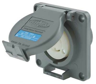 HUBBELL WIRING DEVICE-KELLEMS HBL2320SW 20A Watertight Twist-Lock Receptacle 2P