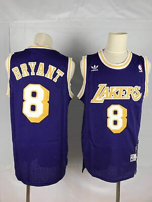 Kobe Bryant #8 Los Angeles Lakers Throwback Purple Mens Jersey S-2XL