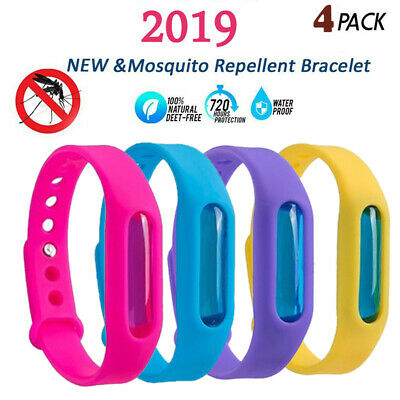 4PCS Anti Mosquito Pest Insect Bug Repellent Wrist Band Bracelet Outdoor Camping