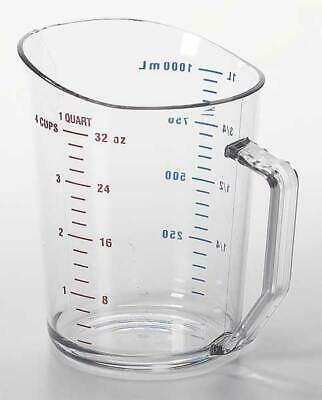 CAMBRO CA100MCCW135 Liquid Measuring Cup,1 Qt.,Clear,PK12