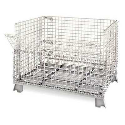 """NASHVILLE WIRE C404830S4 Collapsible Container, 48""""W, Silver"""