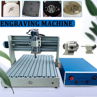 USB 400W 4 AXIS CNC 3040 Router Engraver Wood Drilling + Milling Machine 3D DIY