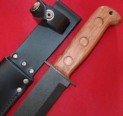 Survial Military Combat Knife & Leather Scabbard J Nowill English Made Military