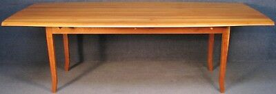 Solid Cherry Wood Long Narrow Drop Leaf Dining Table