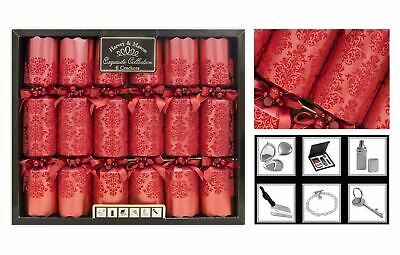 Christmas Crackers Exquisite Collection Box of 6 Premium 13.5' Wide Barrelled