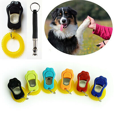 Paws Dog Whistle and Clicker Puppy Training Teaching Adjustable Pitch Volume UK