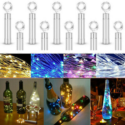 3-6pcs Battery Micro Rice Wire Copper LED String Fairy Bottle Lights Party Decor