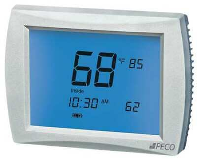 PECO T12532-001 Thermostat, 7 Day Programmable, Stages 3 Heat/2 Cool, 24VAC