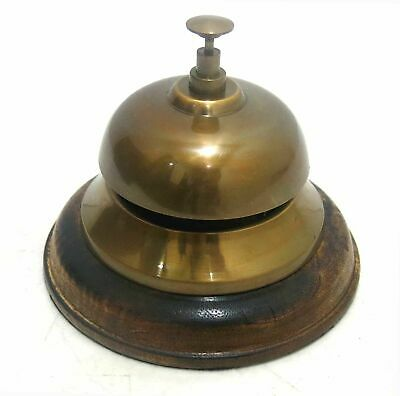 """Reception Service Bell Hotel Desk Counter Ring Traditional Antique Bell Decor 4"""""""