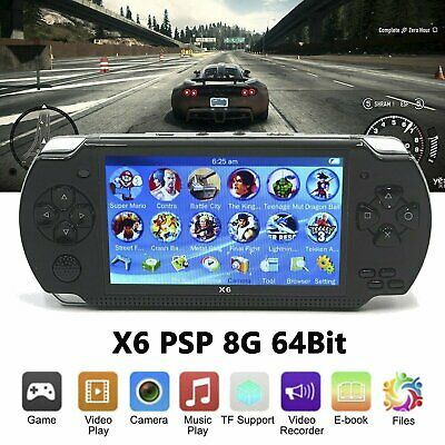 Portable X6 Handheld Video Game Console 64 Bit Built In 1000Game Kids Player 8GB