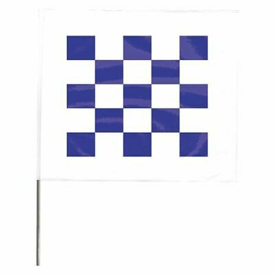 ZORO SELECT 4530WDB28544-200 Marking Flag,Blue/White,Vinyl,PK100