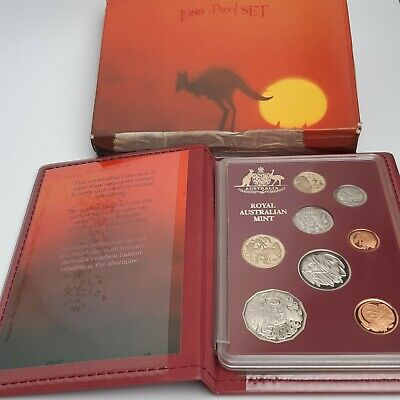 1989 Proof 8 Coin Set Royal Australian Mint RAM Sealed Plastic Kangaroo Sunset