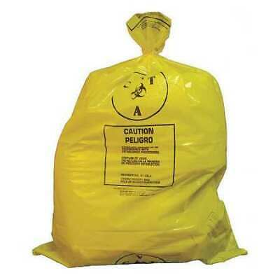ZORO SELECT 3UAD7 Chemo Waste Bags,25 gal.,Yellow,PK100