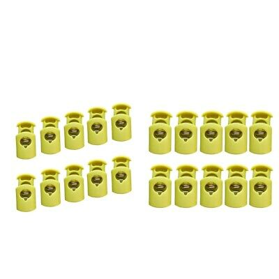 20pcs Plastic Toggle Barrel Cord Lock Stopper Spring End Stop - Single Hole